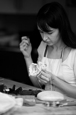 Joanne combines millinery, teaching and freelance work in her portfolio career.