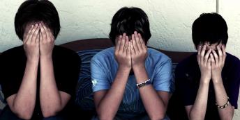 Embarrassed men