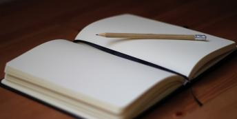 Image of blank diary
