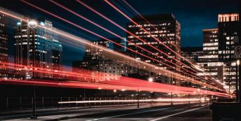 Image of city at night