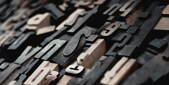 Image of printing letters