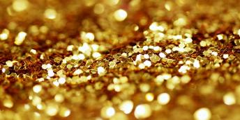 Image of glittery gold dust
