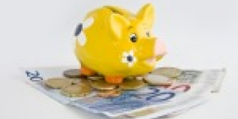 image of piggy bank and money